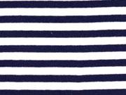 Bündchen Streifen 7 mm garngefärbt, dunkelblau