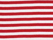 Bündchen Streifen 7 mm garngefärbt, rot