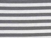Bündchen Streifen 7 mm garngefärbt, grau