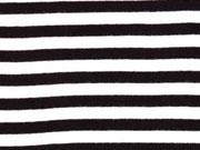 Bündchen Streifen 7 mm garngefärbt, schwarz