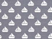 Jersey kleine Segelboote, grau