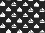 Jersey kleine Segelboote, schwarz