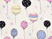 Jersey Luftballons UV-Licht Farbeffekte color change, weiß