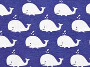 Dekostoff Wale, blau