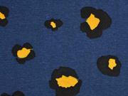 Dekostoff Leo Print, dunkelblau