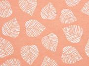 Dekostoff Blätter, apricot