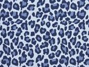 Jersey Leoparden Muster, hellblau