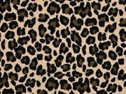 Jersey Leoparden Muster, beige
