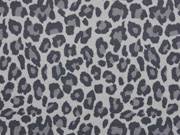 RESTSTÜCK 52 cm Jersey Leoparden Muster, grau