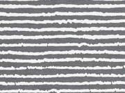 Jersey Blurry Stripes, grau weiss