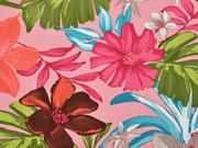 Jersey Blumen Lilien, rosa