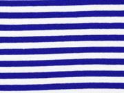 Bündchen Streifen 7 mm garngefärbt, blau