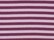 Bündchen Streifen 7 mm garngefärbt, bordeaux