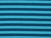 Bündchen Streifen 7 mm garngefärbt, petrol