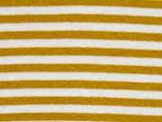 Bündchen Streifen 7 mm garngefärbt, ocker