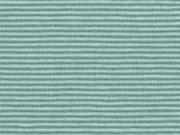 Jerseystoff schmale Streifen 1 mm Garn gefärbt, mint