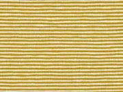 Jersey Streifen 1 mm Garn gefärbt, ocker