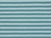 Jersey Streifen 4 mm garngefärbt, mint dk mint