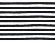 RESTSTÜCK 38 cm Jersey Streifen 4 mm garngefärbt, schwarz