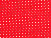 RESTSTÜCK 35 cm Jersey Mini Punkte, rot weiss