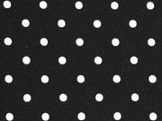 Jersey Punkte 4 mm, schwarz weiss