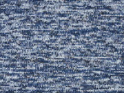 Strickstoff angeraut meliert, blau hellblau