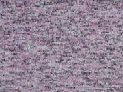 Strickstoff angeraut meliert, rosa grau