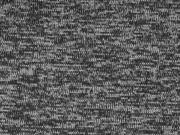 Strickstoff angeraut meliert, dunkelgrau schwarz