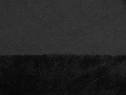 RESTSTÜCK 26 cm Sweat Alpenfleece uni,  schwarz