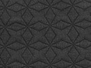 Steppjersey Sterne, schwarz