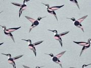 Dekostoff Kolibris, rosa mint