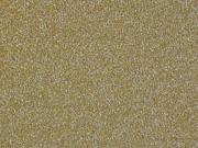 Glitzerjersey, ocker silber metallic