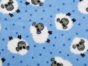 Wellnessfleece Schafe Punkte, hellblau