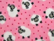 Wellnessfleece Schafe Punkte, rosa