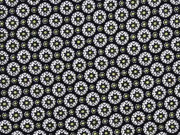 Viskose Blumenräder, schwarz