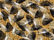 Viskose Jersey Palmfächer, ocker