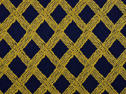 Viskose Jersey Rauten Gitternetz, dunkelblau