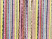 Dickerer Stoff Streifen, gelb/beige/rosa