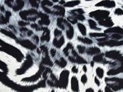 elastischer Samt Leoparden Muster, grau schwarz