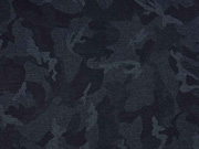 Punto di Roma Heavy Stretchjersey Camouflage, nachtblau petrol