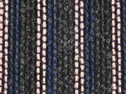 Boucle Streifen Mantelstoff anthrazit altrosa blau