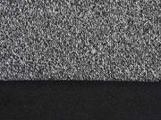 Strick meliert Doubleface Fleece, schwarz
