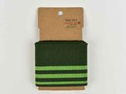 Fertigbündchen Streifen, hellgrün moosgrün