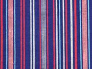 Mexikostoff Streifen, dunkelblau rot