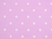 Voile Baumwolle weiße Punkte, rosa