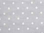 Voile Baumwolle weiße Punkte, weiß