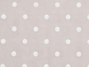 Voile Baumwolle weiße Punkte, helles taupe