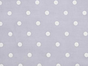 Voile Baumwolle weiße Punkte, grau