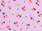 Voile Baumwolle Blümchen, rosa