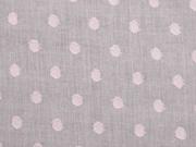 Baumwollstoff Voile gewebte Punkte, zartes apricot